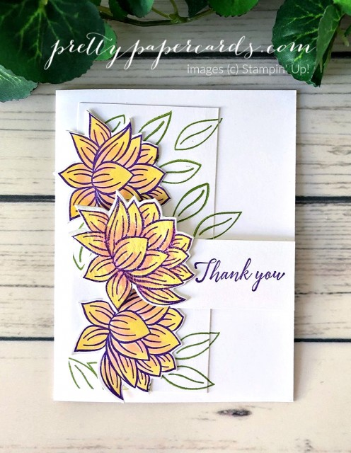 Lily Pad Thank You Stampin' Up! Peggy Noe