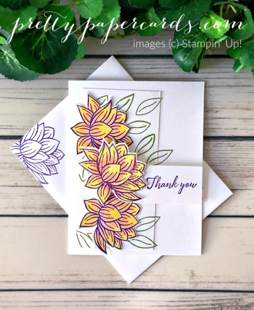 Lily Pad Thank You Stampin' Up! Pretty Paper Cards