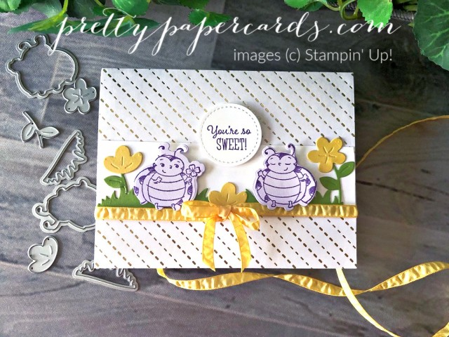 Little Ladybug Stampin' Up! Love Card by Pretty Paper Cards