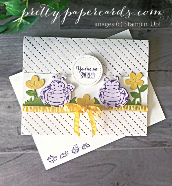 Little Ladybug Stampin' Up! Sweet Card by Peggy Noe