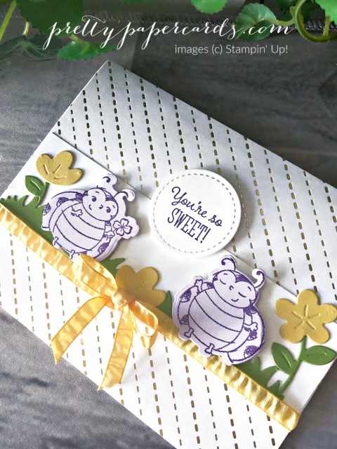 Little Ladybug Stampin' Up! Sweet Card by Pretty Paper Cards