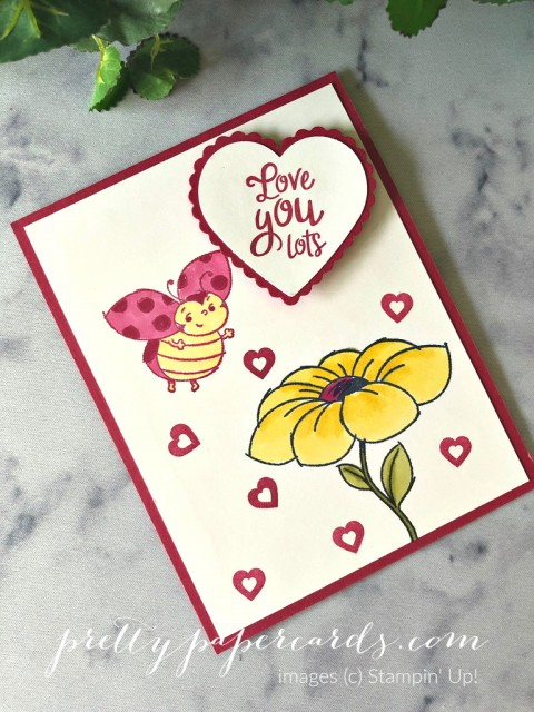 Little Ladybug Valentine Stampin' Up! by Peggy Noe
