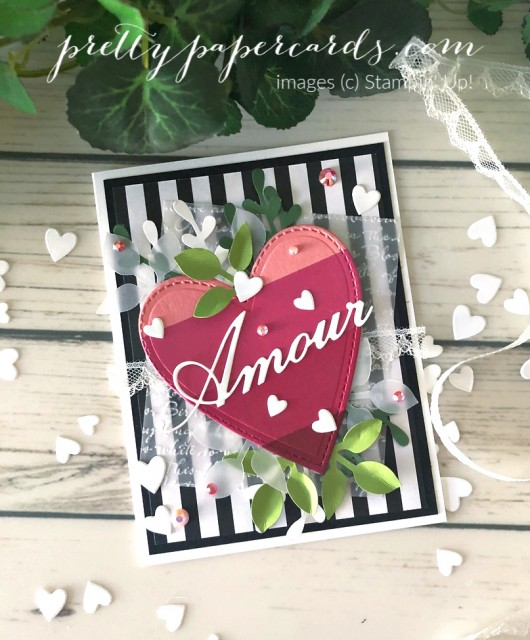 Parisian Amour Valentine Stampin' Up! by Peggy Noe