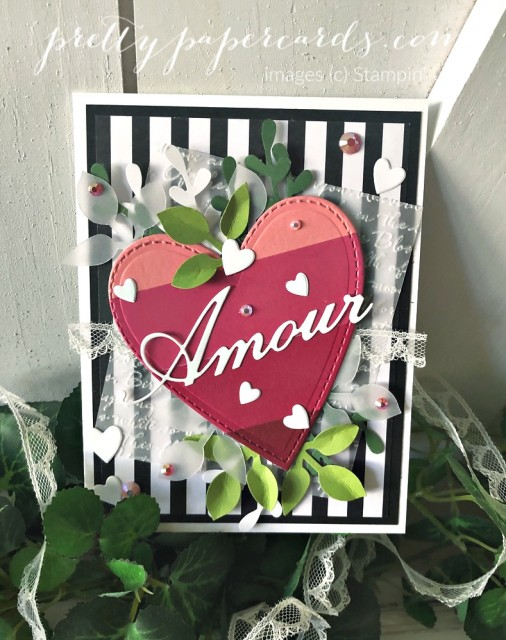 Parisian Amour Valentine Stampin' Up! by Pretty Paper Cards