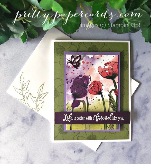 Peaceful Moments Poppy Card Stampin' Up! by Pretty Paper Cards