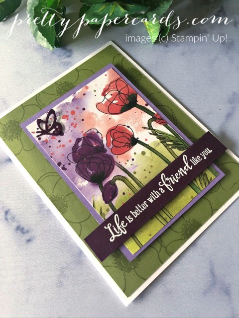Poppy Friend Card Stampin' Up! by Peggy Noe