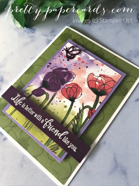 Poppy Friend Card Stampin' Up! by Pretty Paper Cards