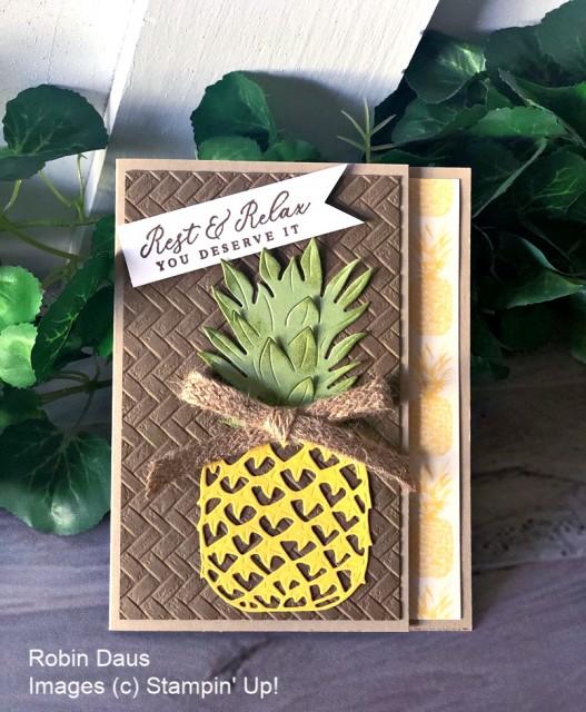 Timeless Tropical Card Stampin' Up! Robin Daus