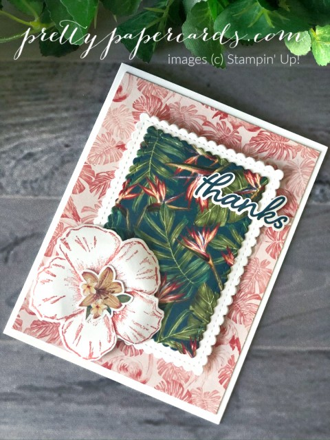 Handmade rest and relax card with large pineapple, made using the Timeless Tropical Bundle by Stampin' Up! created by Robin Daus