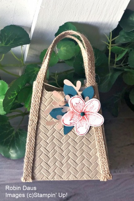 Tropical Purse Stampin' Up! Pretty Paper Cards