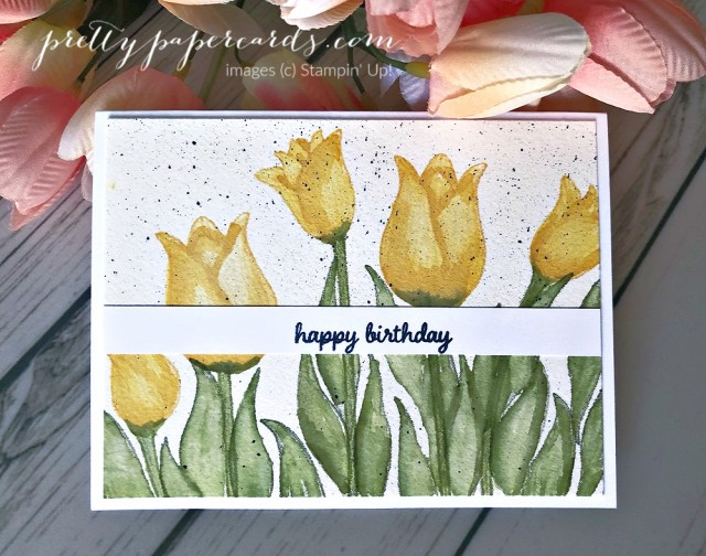 Tulip Birthday Card Stampin' Up! Pretty Paper Cards