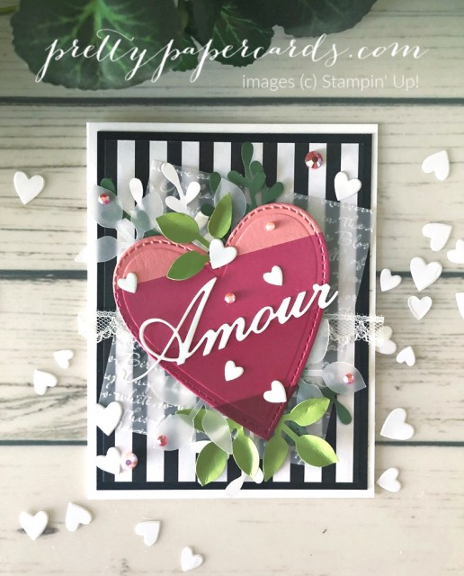 Valentine Amour Card Stampin' Up! Peggy Noe