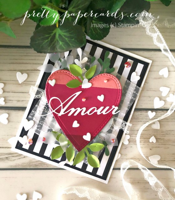 Valentine Amour Card Stampin' Up! by Pretty Paper Cards