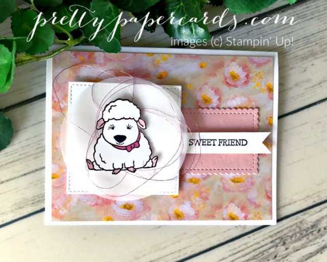 Welcome Easter Lamb Stampin' Up! Peggy Noe