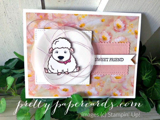 Welcome Easter Lamb Stampin' Up! Pretty Paper Cards