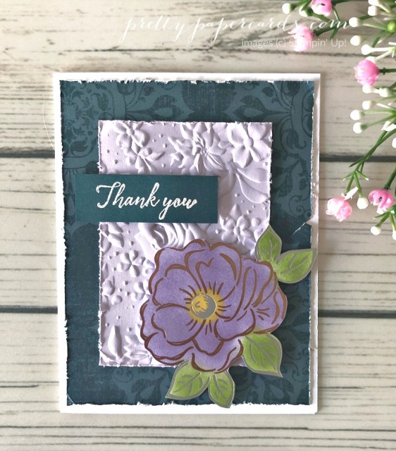 Flowering Foil Card Peggy Noe Stampin' Up!