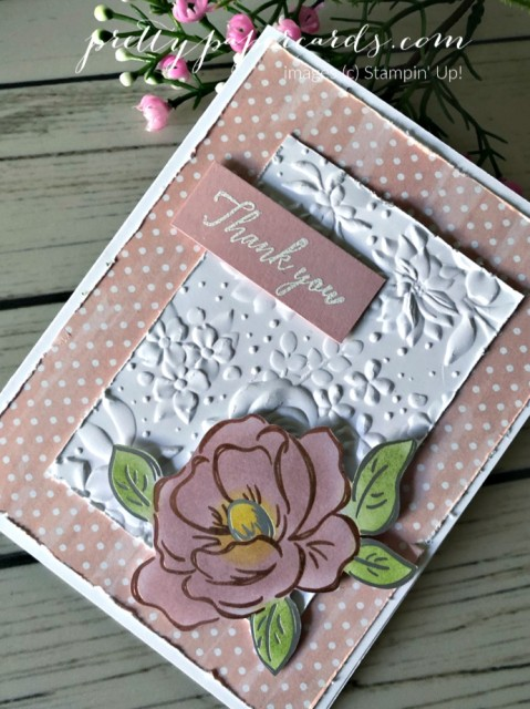 Flowering Foil Thank You Card Stamin' Up! Peggy Noe