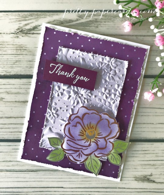 Flowering Foil Thank You Stampin' Up! Peggy Noe