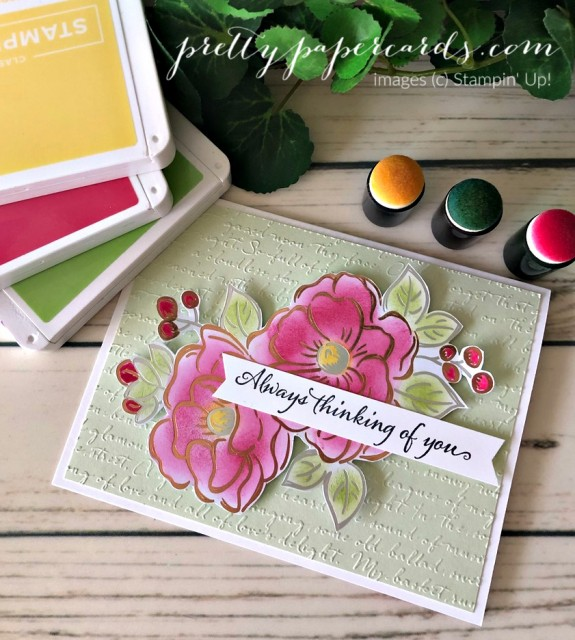 Flowering Foils Card Stampin' Up! Pretty Paper Cards