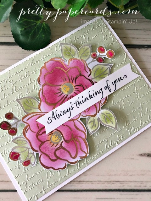 Flowering Foils Stampin' Up! Peggy Noe