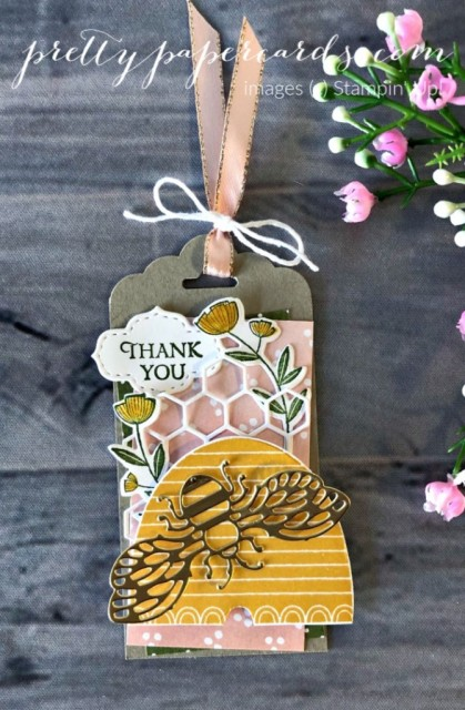 Honey Bee Tag Stampin' Up! Peggy Noe