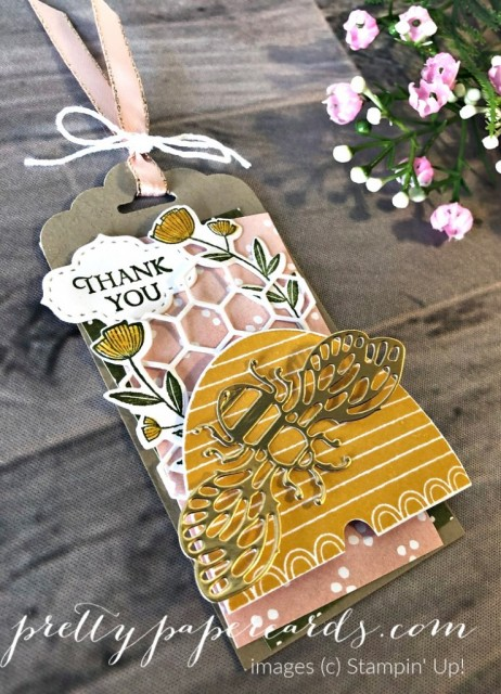 Honey Bee Tag Stampin' Up! Pretty Paper Card