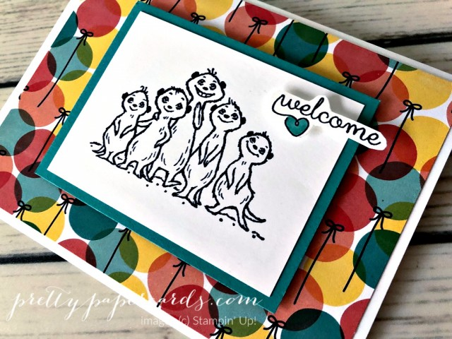 Meercat Card Stampin' Up! Pretty Paper Cards
