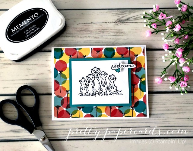 Meercats Stampin' Up! Pretty Paper Cards