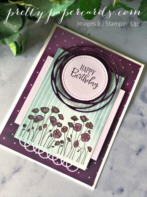 Painted Poppies Birthday Stampin' Up! Peggy Noe