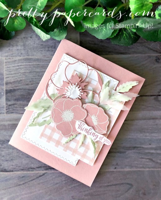 Pink Poppy Card Stampin' Up! Peggy Noe