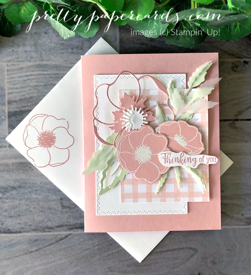 Pink Poppies Thinking of You Card!
