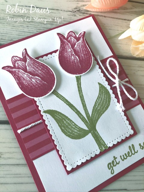 Timeless Tulips Get Well Card Stampin' Up!