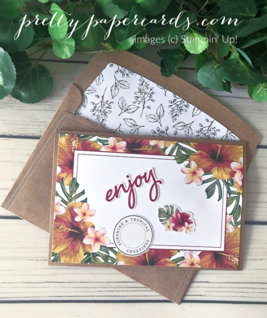 Tropical Oasis Enjoy Card Stampin' Up! Peggy Noe