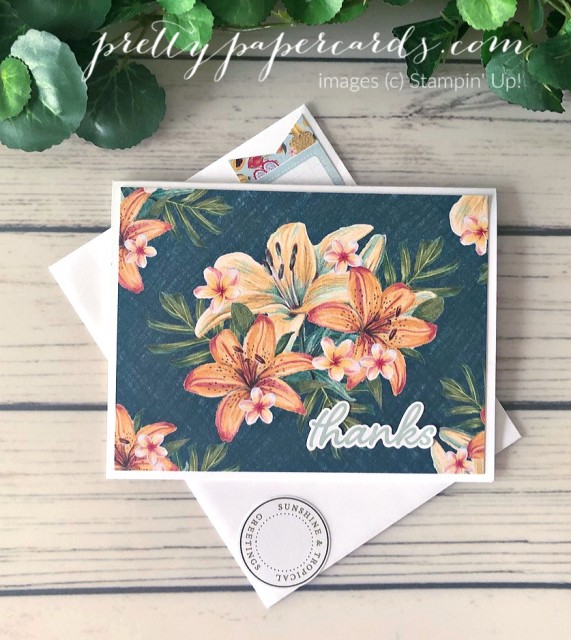 Tropical Oasis Memories & More Stampin' Up! Peggy Noe