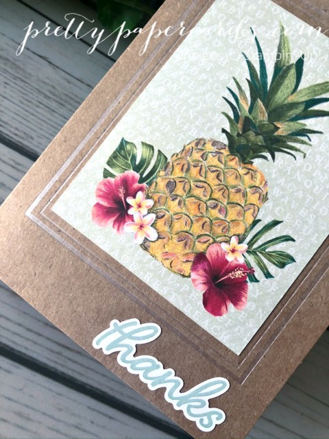 Tropical Oasis Memories & More Stampin' Up! Pretty Paper Cards