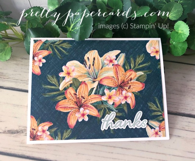 Tropical Oasis Stampin' Up! Pretty Paper Cards