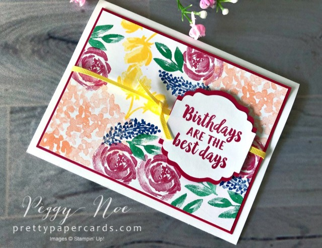 Birthday Card Stampin' Up! Peggy Noe