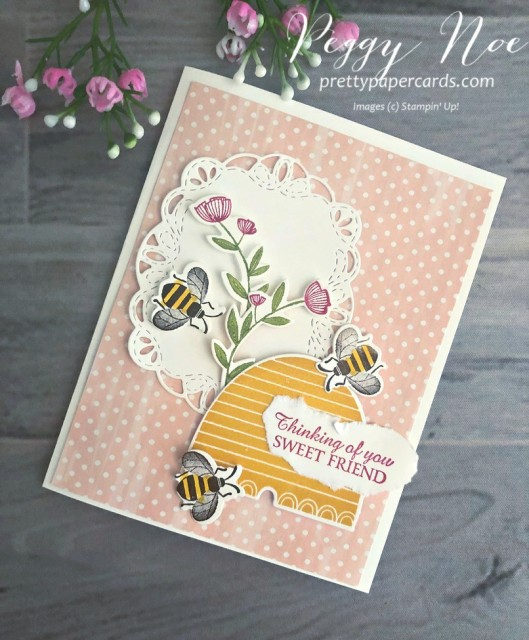 Honey Bee Thinking of You Stampin' Up! Peggy Noe