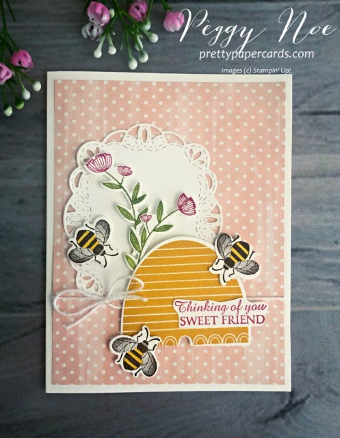 Honey Bees Stampin' Up! Pretty Paper Cards