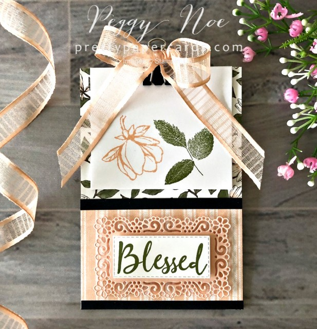 Magnolia Blessed Clip Board Stampin' Up! Pretty Paper Cards