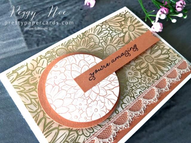 Ornate Garden Card Grapefruit Peggy Noe