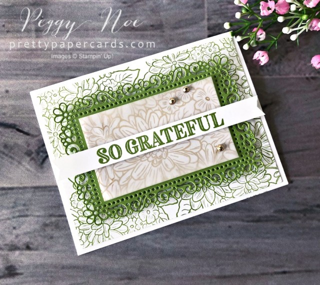 Ornate So Grateful Card Stampin' Up! Peggy Noe