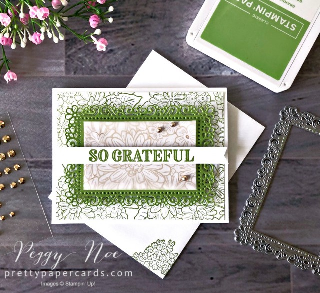 Ornate So Grateful Stampin' Up! Peggy Noe