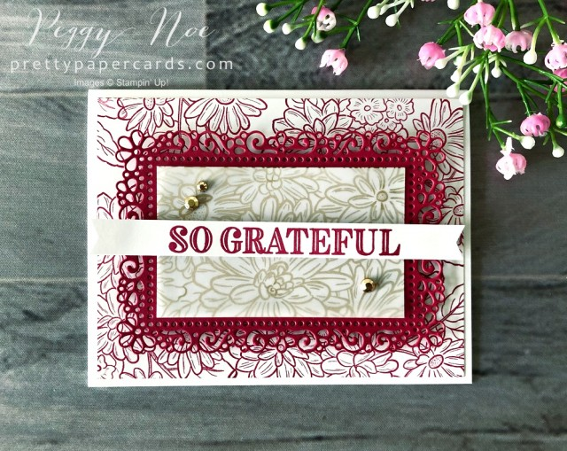 Ornate So Grateful Stampin' Up! Pretty Paper Cards