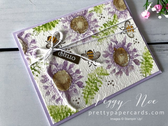 Painted Harvest Hello Card Stampin' Up! Peggy Noe