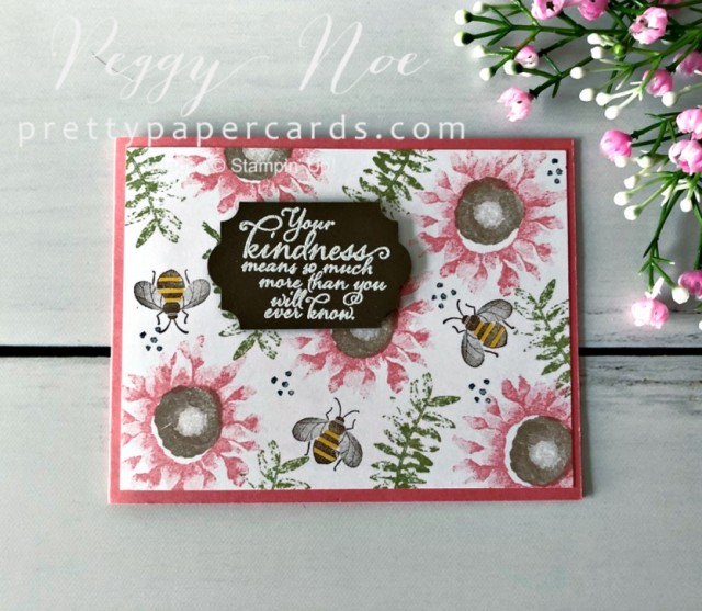 Painted Harvest Honey Bee Stampin' Up! Peggy Noe