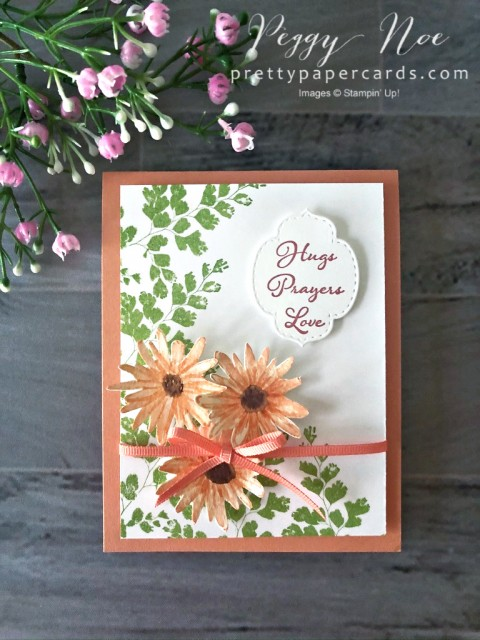 Positive Thoughts Card Stampin' Up! Peggy Noe