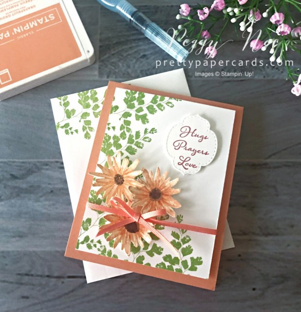 Positive Thoughts Card Stampin' Up! Pretty Paper Cards