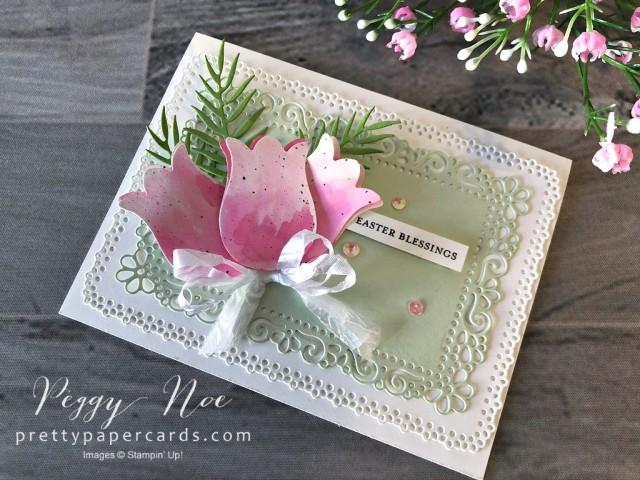 Timeless Tulips Easter Card Peggy Noe