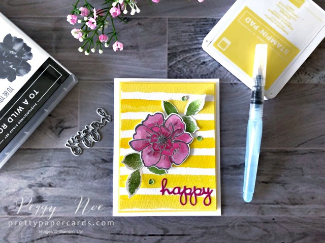 To a Wild Rose Card by Peggy Noe